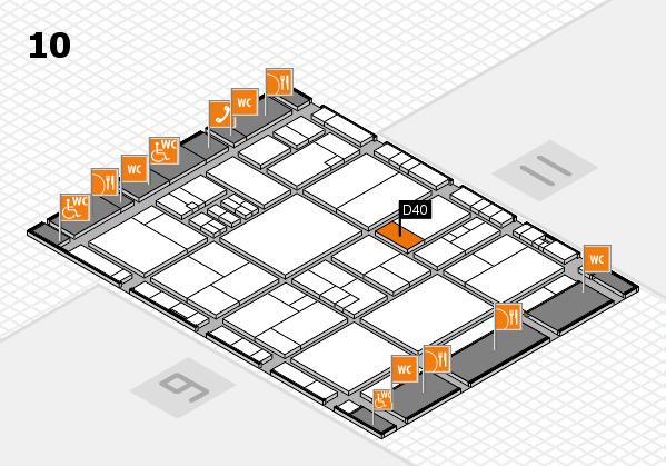 drupa 2016 Hallenplan (Halle 10): Stand D40