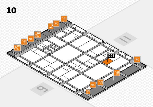 drupa 2016 Hallenplan (Halle 10): Stand D54