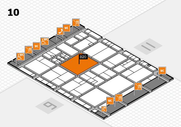 drupa 2016 Hallenplan (Halle 10): Stand B20