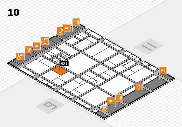 drupa 2016 Hallenplan (Halle 10): Stand B21