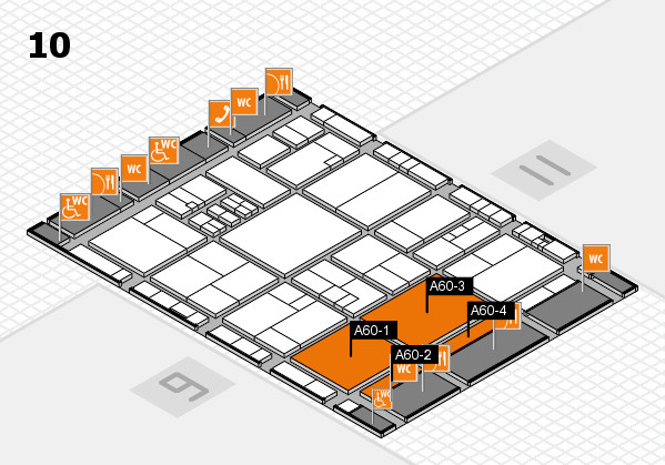 drupa 2016 Hallenplan (Halle 10): Stand A60-1, Stand A60-4