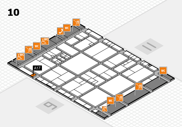 drupa 2016 Hallenplan (Halle 10): Stand A17
