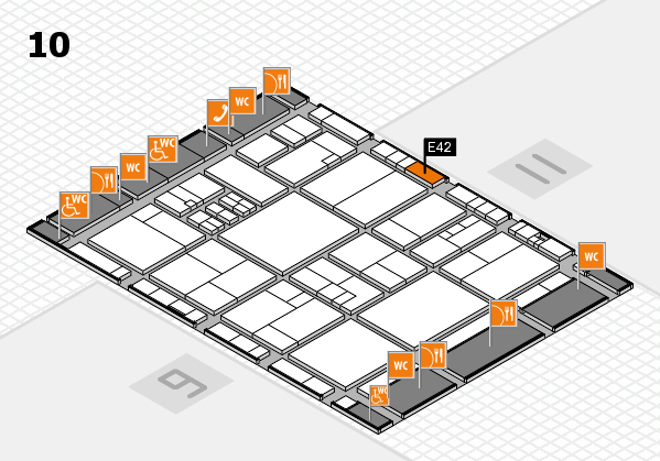 drupa 2016 hall map (Hall 10): stand E42