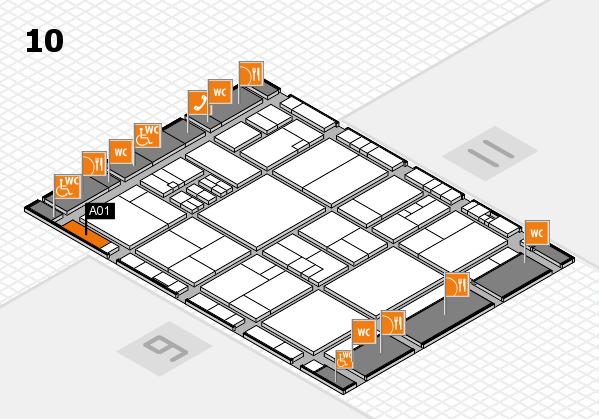 drupa 2016 Hallenplan (Halle 10): Stand A01