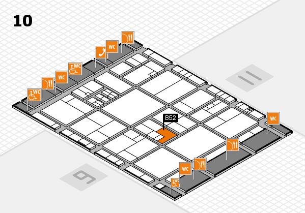 drupa 2016 hall map (Hall 10): stand B52