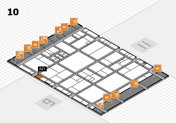 drupa 2016 hall map (Hall 10): stand A21