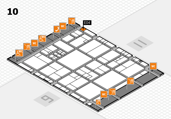 drupa 2016 hall map (Hall 10): stand E04