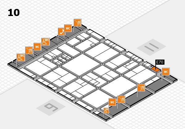 drupa 2016 Hallenplan (Halle 10): Stand E70