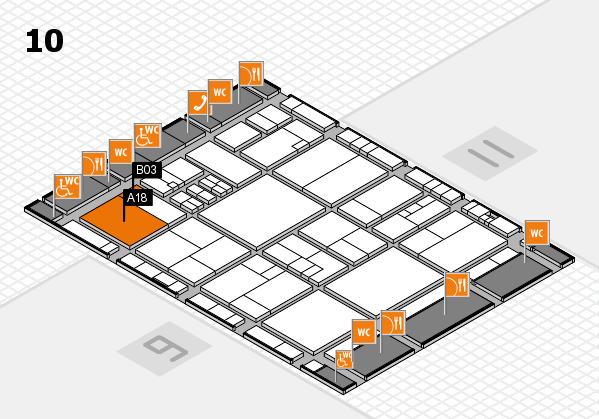 drupa 2016 Hallenplan (Halle 10): Stand A18, Stand B03