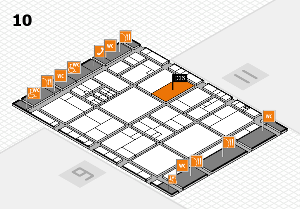 drupa 2016 Hallenplan (Halle 10): Stand D36