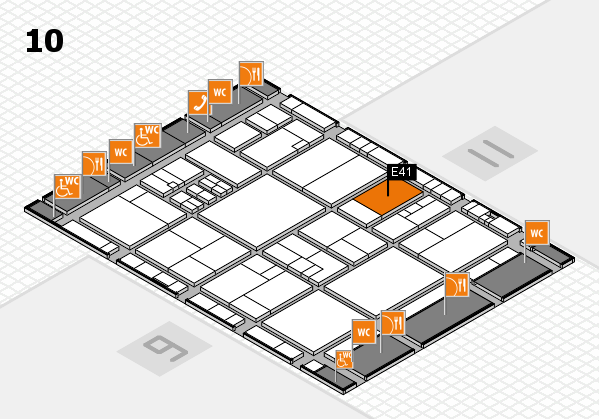 drupa 2016 Hallenplan (Halle 10): Stand E41