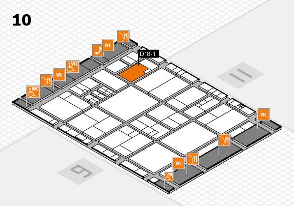 drupa 2016 Hallenplan (Halle 10): Stand D18-1