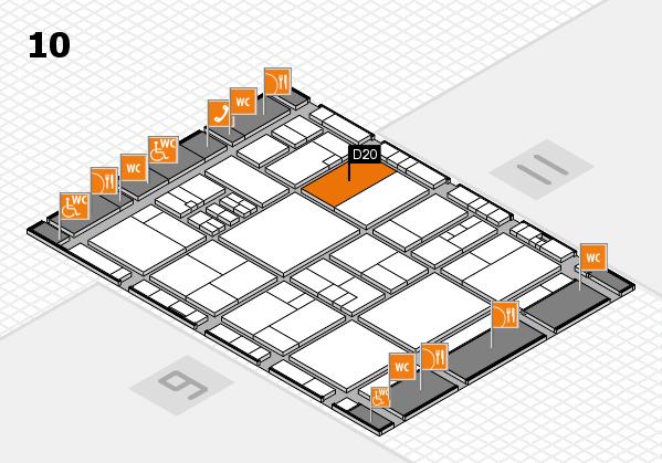 drupa 2016 Hallenplan (Halle 10): Stand D20