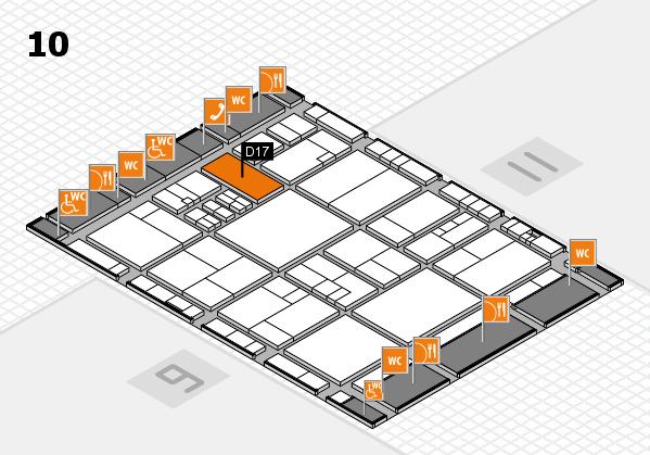 drupa 2016 Hallenplan (Halle 10): Stand D17