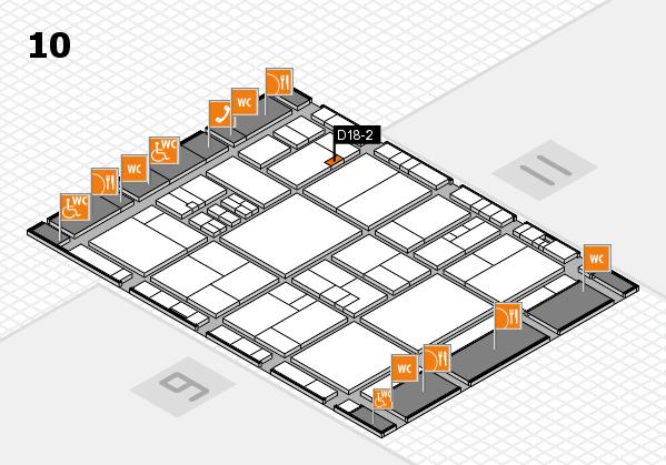 drupa 2016 Hallenplan (Halle 10): Stand D18-2