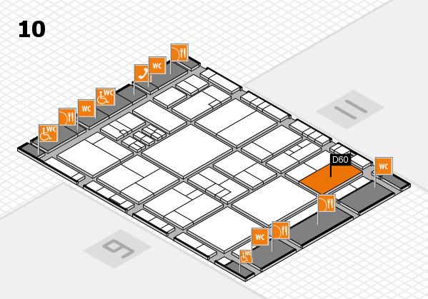 drupa 2016 Hallenplan (Halle 10): Stand D60