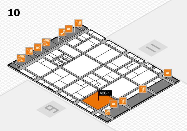 drupa 2016 hall map (Hall 10): stand A60-1