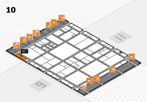 drupa 2016 hall map (Hall 10): stand A01