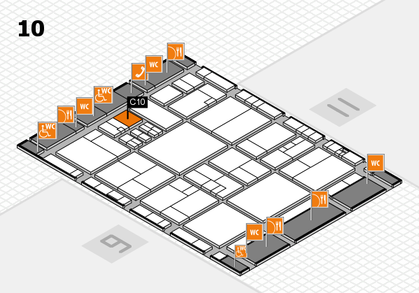 drupa 2016 Hallenplan (Halle 10): Stand C10