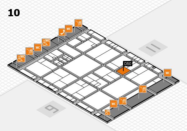 drupa 2016 Hallenplan (Halle 10): Stand D50