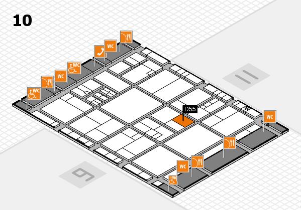 drupa 2016 hall map (Hall 10): stand D55