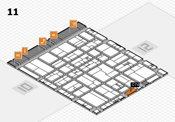 drupa 2016 hall map (Hall 11): stand C74