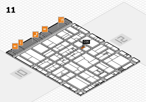 drupa 2016 hall map (Hall 11): stand D36