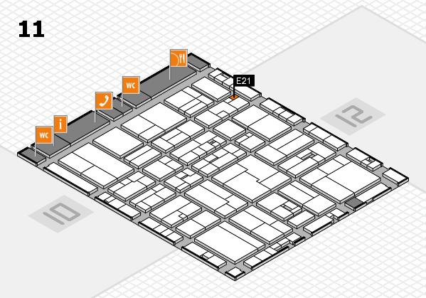 drupa 2016 hall map (Hall 11): stand E21
