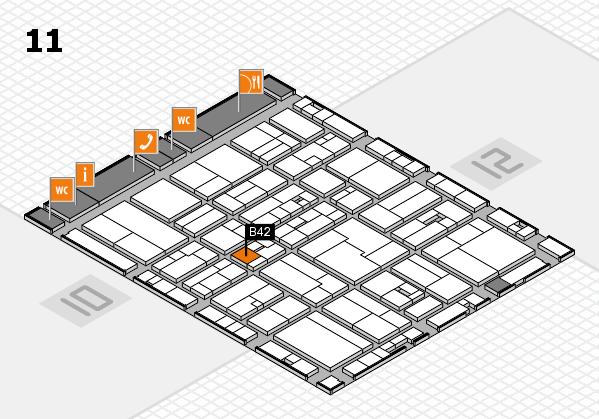 drupa 2016 hall map (Hall 11): stand B42