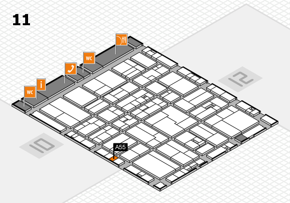 drupa 2016 hall map (Hall 11): stand A55