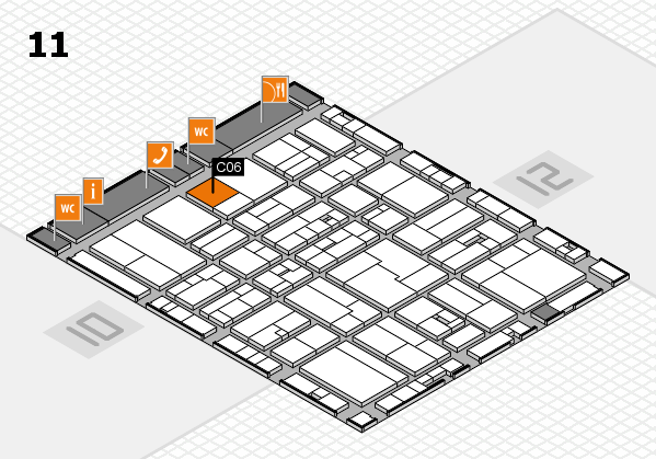 drupa 2016 hall map (Hall 11): stand C06