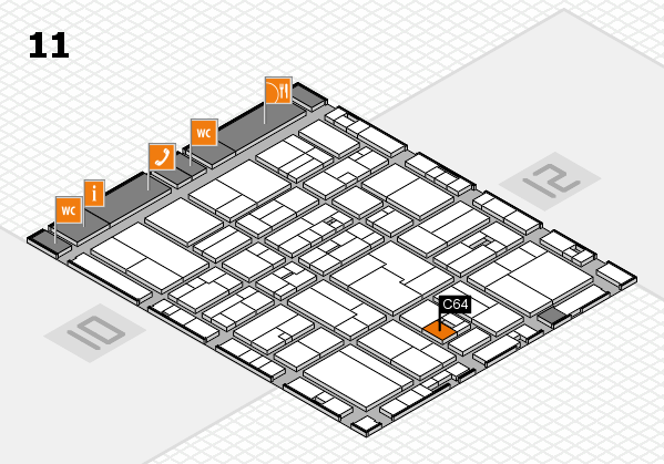 drupa 2016 Hallenplan (Halle 11): Stand C64