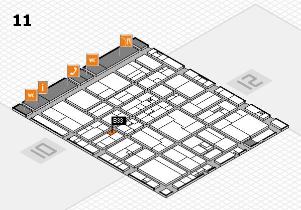drupa 2016 Hallenplan (Halle 11): Stand B33
