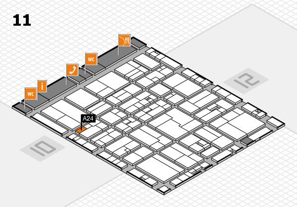 drupa 2016 hall map (Hall 11): stand A24