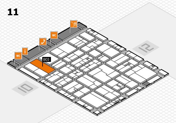 drupa 2016 hall map (Hall 11): stand B03