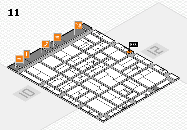 drupa 2016 hall map (Hall 11): stand E38