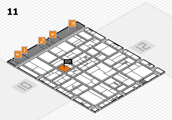 drupa 2016 Hallenplan (Halle 11): Stand B26