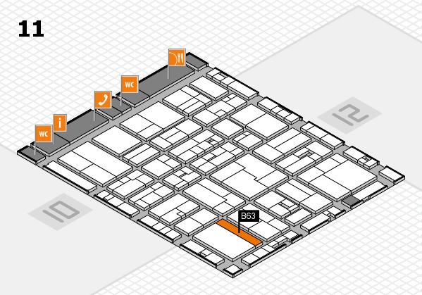 drupa 2016 Hallenplan (Halle 11): Stand B63