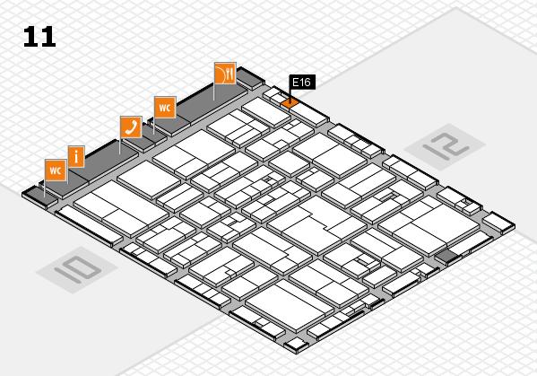 drupa 2016 Hallenplan (Halle 11): Stand E16