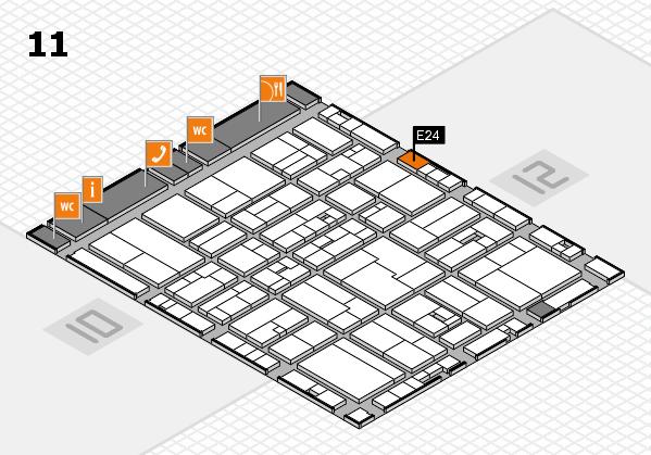 drupa 2016 Hallenplan (Halle 11): Stand E24