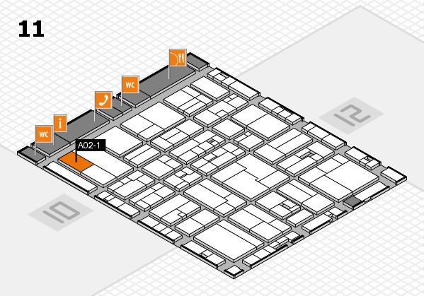 drupa 2016 hall map (Hall 11): stand A02-1