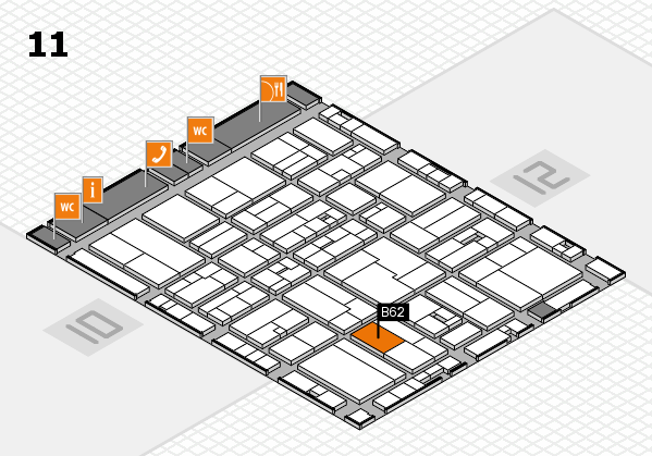 drupa 2016 hall map (Hall 11): stand B62