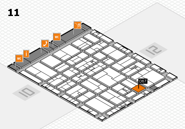 drupa 2016 Hallenplan (Halle 11): Stand D67