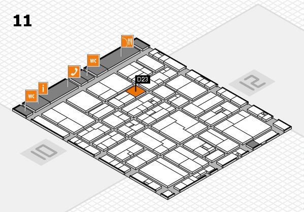 drupa 2016 hall map (Hall 11): stand D23