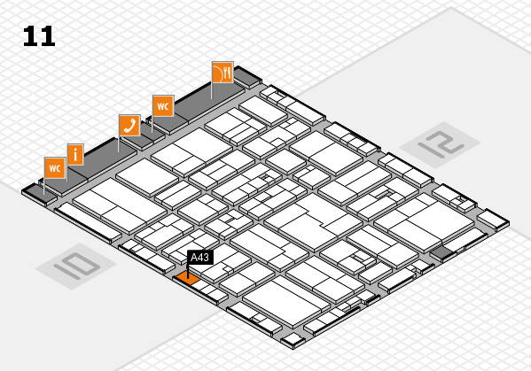drupa 2016 Hallenplan (Halle 11): Stand A43