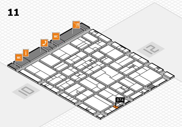 drupa 2016 Hallenplan (Halle 11): Stand B74