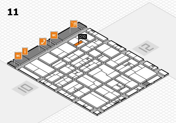 drupa 2016 Hallenplan (Halle 11): Stand D10