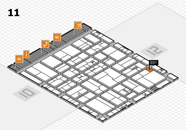 drupa 2016 Hallenplan (Halle 11): Stand E61