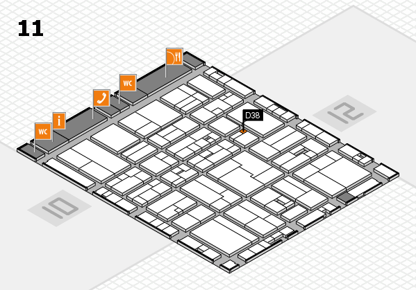 drupa 2016 hall map (Hall 11): stand D38