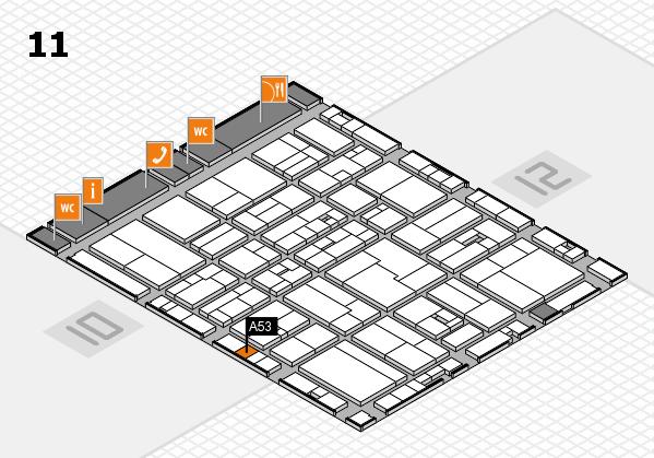 drupa 2016 hall map (Hall 11): stand A53